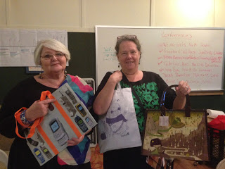 Lynn and Celia pose with some of our wonderful donations