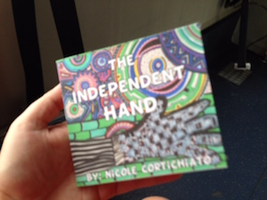 "The cover of my first children's book, ""The Independent Hand"""